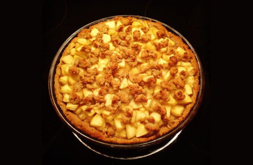 Herbstzeit ist Apfelzeit. Apfelkuchen.